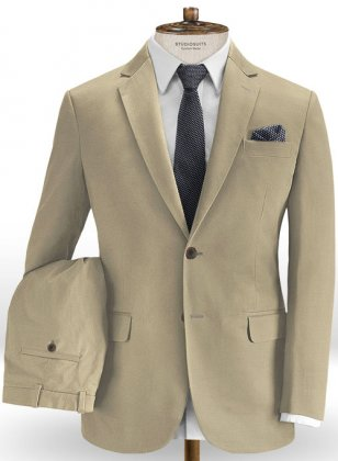 Camel Stretch Chino Suit