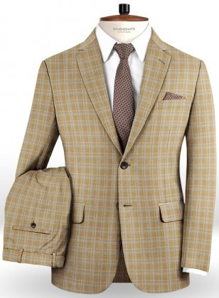 Napolean Spring Brown Wool Suit