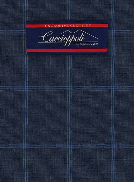 Caccioppoli Wool Blue Pasito Suit