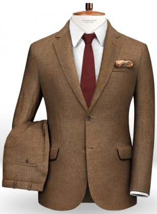 Mid Brown Flannel Wool Suit