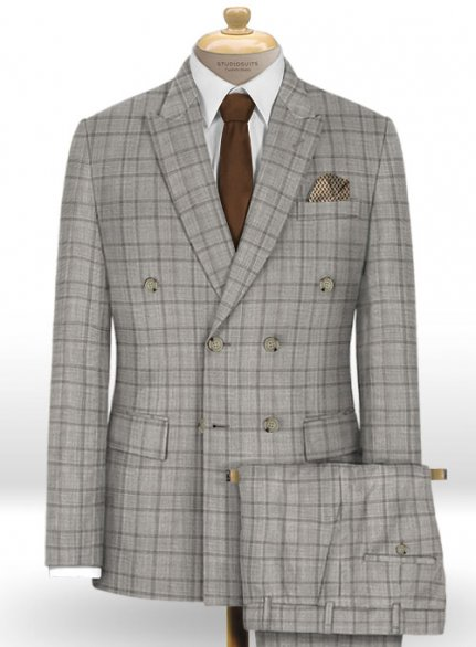 Napolean Corro Gray Wool Suit