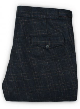 Vintage Jones Navy Checks Tweed Pants