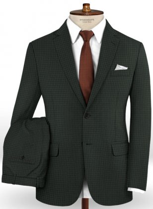 Reda Fene Green Wool Suit