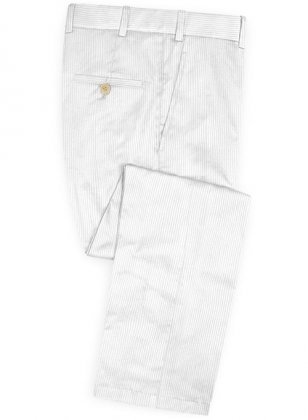 White Thick Corduroy Pants