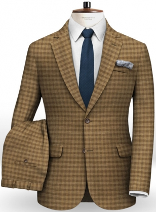Edward Stretch Cotton Khaki Suit