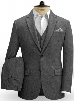 Gray Heavy Tweed Suit
