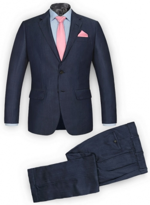 Reda Metro Blue Pure Wool Suit