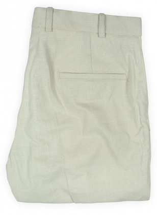Tropical Light Beige Linen Pants - 32R