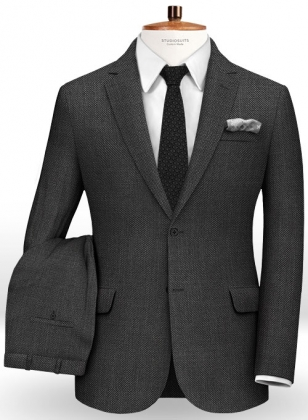 Birdseye Wool Charcoal Suit