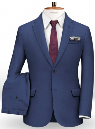 Napolean Bottle Blue Wool Suit
