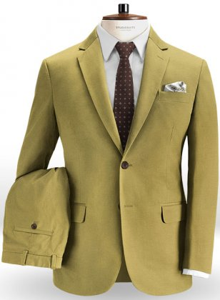 Military Khaki Chino Suit