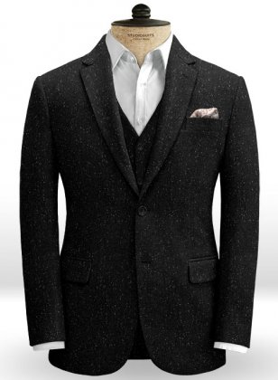 Black Flecks Donegal Tweed Jacket