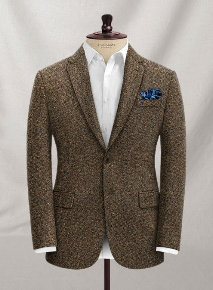 Caccioppoli Donegal Brown Tweed Jacket