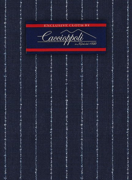 Caccioppoli Wool Blue Ostone Suit