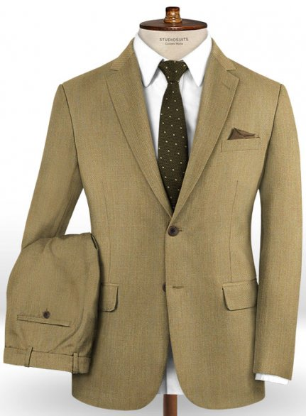 Caccioppoli Dapper Dandy Madici Moss Green Wool Suit