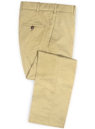 Italian Khaki Peach Finish Chino Pants