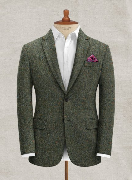 Caccioppoli Donegal Green Tweed Jacket