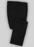 Black Peach Finish Twill Tailored Chinos
