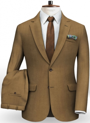 Italian Tan Wool Suit