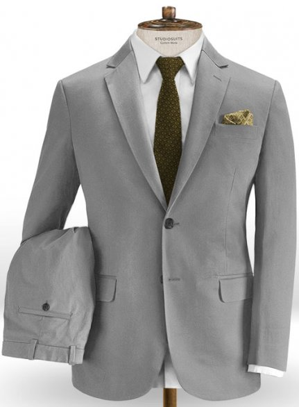 Gray Stretch Chino Suit