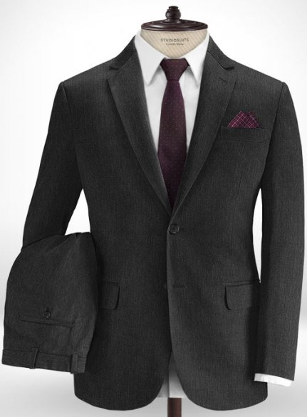 Cotton Stretch Nicomi Charcoal Suit