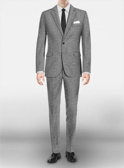 Houndstooth Wool Suit