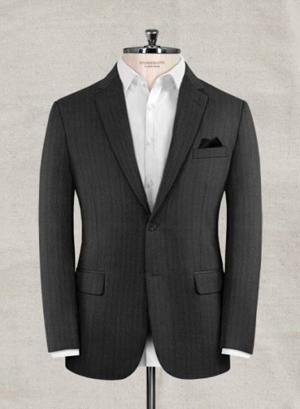 Zegna Ispino Gray Stripes Wool Jacket
