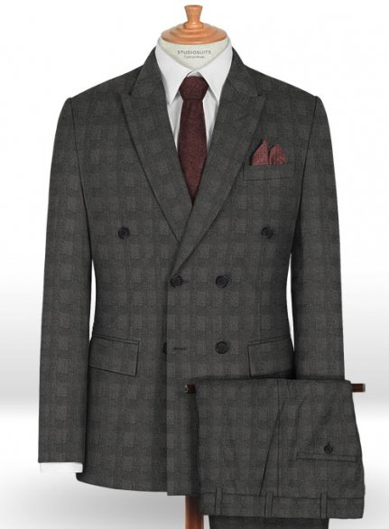 Napolean Prince Charcoal Wool Suit