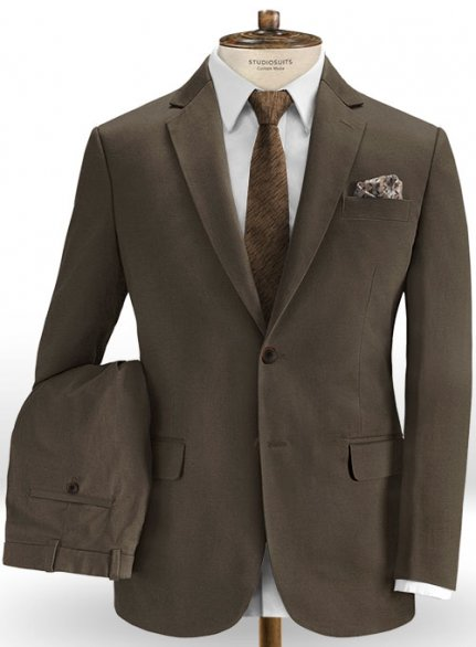 Dark Brown Stretch Chino Suit