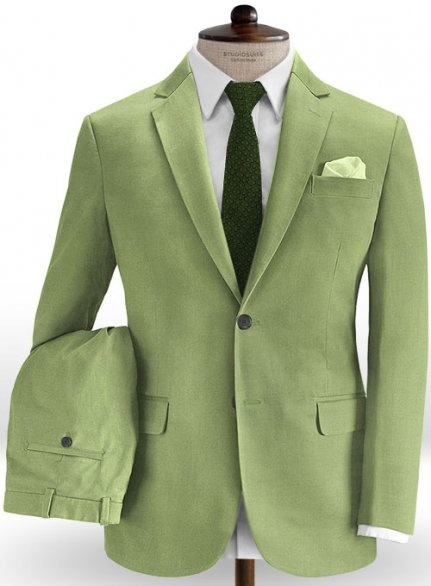 Sea Green Cotton Stretch Suit