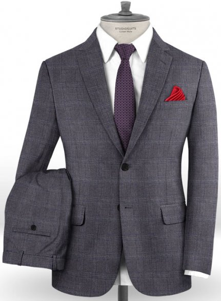 Reda Lusra Gray Wool Suit
