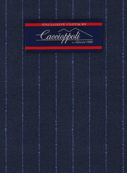 Caccioppoli Fresco Wool Blue Pricco Suit
