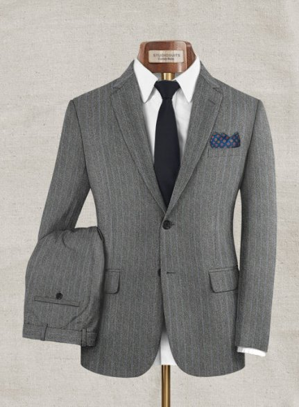 Zegna Rangel Gray Stripe Wool Suit