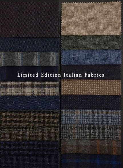 Limited Edition Italian Fabric Samples