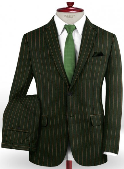 Jail Green Flannel Wool Suit