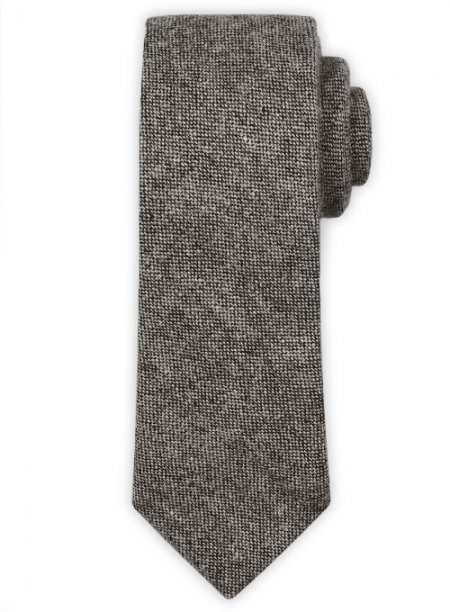 Tweed Tie - Dark Gray Tweed