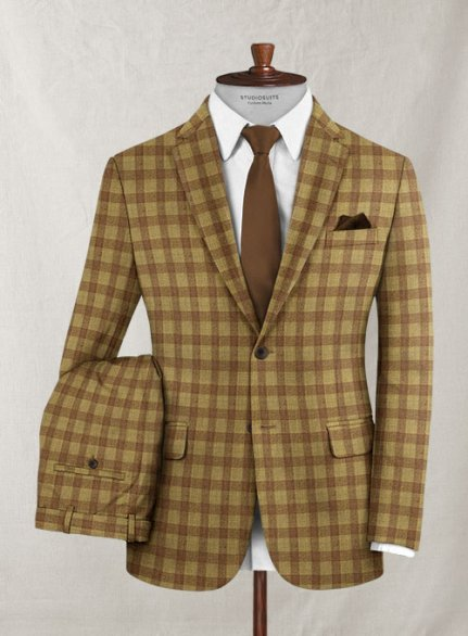 Italian Wool Cashmere Crazio Checks Suit