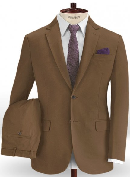Brown Stretch Chino Suit