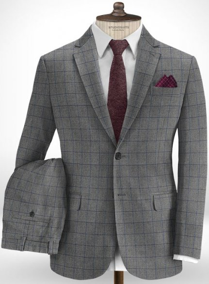 Cotton Alddi Gray Suit
