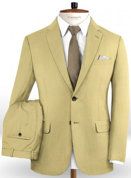 Reda Light Khaki Pure Wool Suit