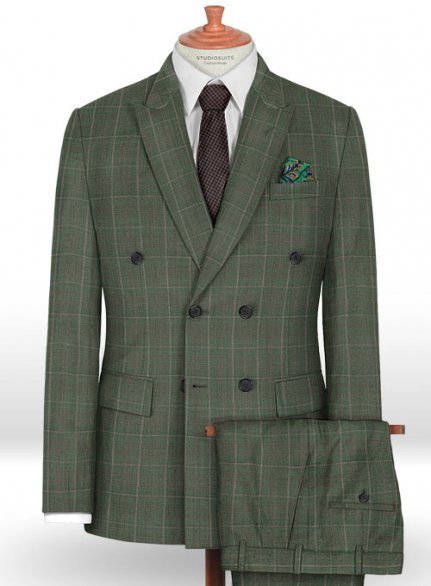 Napolean Nalda Green Wool Suit