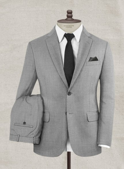 Italian Wool Cashmere Harbour Gray Suit