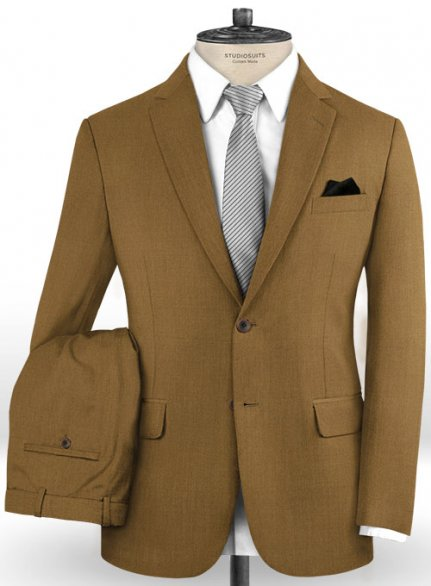 Scabal Sepia Brown Wool Suit