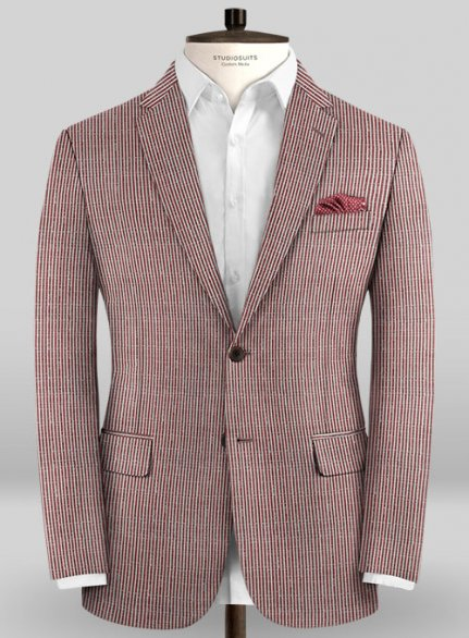 Scabal Taormina Lexi Red Wool Jacket