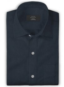 Giza Rich Blue Cotton Shirt