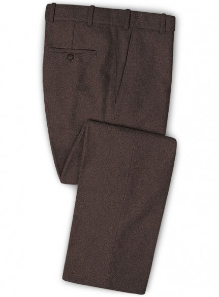 Brown Heavy Tweed Pants
