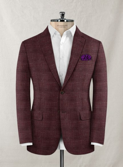 Italian Murano Achale Red Wool Jacket