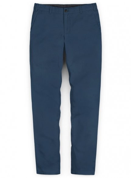 Washed Stretch Summer Weight Ink Blue Chino Pants