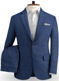 Safari Royal Blue Cotton Linen Suit