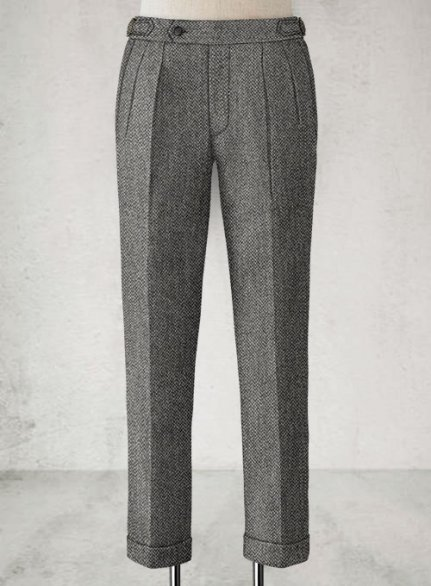 Harris Tweed Barley Gray Highland Trousers